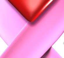 Breast Cancer Awareness Pink Ribbon Heart Sticker