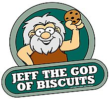 Jeff the God of Biscuits Photographic Print