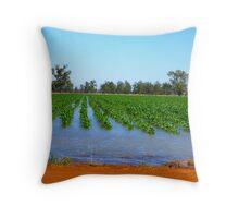 Flooded Corn Throw Pillow