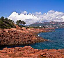 Cap Esterel,France-mediterranean by GOSIA GRZYBEK