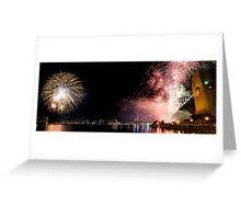 Sydney Fireworks NYE 2008 Greeting Card