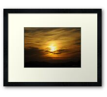 A CROSS-HATCHED SKY Framed Print