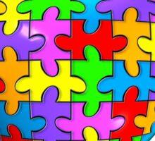 """""""We all belong"""" Autism Awareness Heart Sticker"""