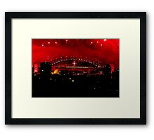 Sydney New Years Eve Fireworks 2009 - 6 Framed Print