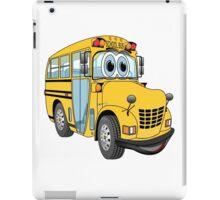 School Bus Cartoon iPad Case/Skin