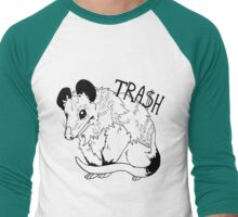tra$$$h oppossum- dark lines Men's Baseball ¾ T-Shirt