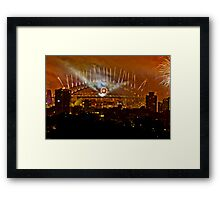 Sydney New Years Eve Fireworks 2009 - 4 Framed Print