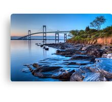 Newport Bridge Sunrise from Taylor Point Canvas Print