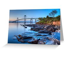 Newport Bridge Sunrise from Taylor Point Greeting Card