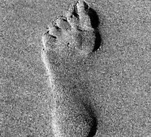Footprint in the sand Oregon Coast by Hannah Fenton-Williams