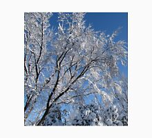 Snow Covered Trees Photograph Square Unisex T-Shirt