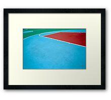 Basketball court Framed Print