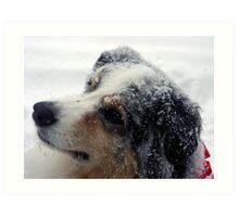 Mel in Snow Art Print