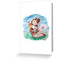 Princess Leia and Wookiee Doll Chewbacca STAR WARS fan art Greeting Card