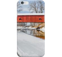 Snowy Oakalla Covered Bridge iPhone Case/Skin