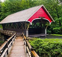 Flume Covered Bridge by Kenneth Keifer