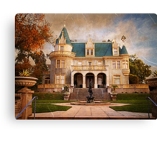 Kimberly Crest Manor, Vintage View Canvas Print