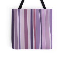 Retro Stripes Grape Purple Tote Bag