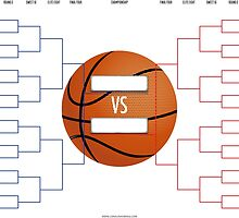 March Madness Basketball Bracket Chart by SportsSwagg