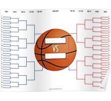 March Madness Basketball Bracket Chart Poster