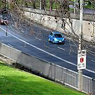 Driving into the tunnel, Melbourne by Maggie Hegarty