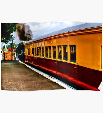 """""""The Dinner Train To Queenscliff"""" Poster"""