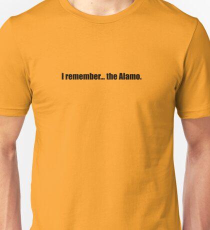 Pee-Wee Herman - I Remember... the Alamo - Black Font Unisex T-Shirt