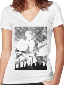 Tilling the Fields - Gat Gods get good Women's Fitted V-Neck T-Shirt