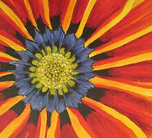 Gazania Section of Painting by Heather Holland by Heatherian