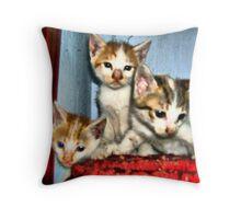 Three siblings Throw Pillow