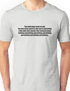 Pee-Wee Herman - Knitting and Knitting - Black Font Unisex T-Shirt