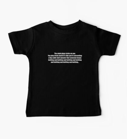 Pee-Wee Herman - Knitting and Knitting - White Font Baby Tee