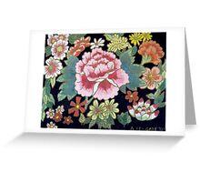 Kimono Flowers Greeting Card