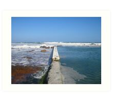 Beach tidal pool Art Print