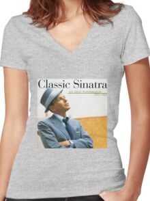 Frank Sinatra His Great Performances 1953-1960 Women's Fitted V-Neck T-Shirt