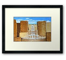 Wholemeal Falls Framed Print