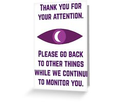 Attention Greeting Card