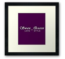 Swan Queen - Love with Style Framed Print