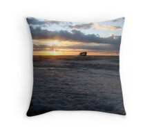 Cape May sunset 12/31 Throw Pillow