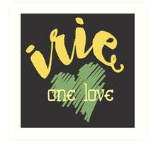 Jamaica Irie  One Love  Art Print