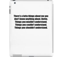 Pee-Wee Herman - There's a Lotta Things - Black Font iPad Case/Skin