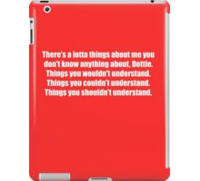 Pee-Wee Herman - There's a Lotta Things - White Font iPad Case/Skin