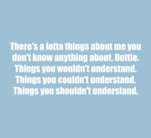 Pee-Wee Herman - There's a Lotta Things - White Font Kids Clothes