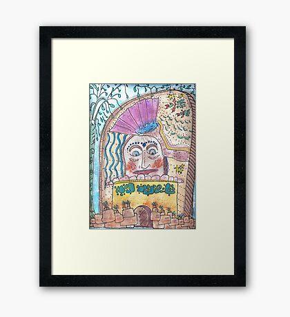 Mayan Stela Framed Print