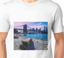 Pastel Brooklyn Bridge Unisex T-Shirt