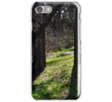 Tree Trunks and Green Grass iPhone Case/Skin