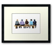 the spectators Framed Print