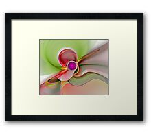 'Light Flame Abstract 101' Framed Print