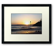 Sunrise at the Sea of Galilee Framed Print