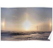Sun Dogs on The Wind Farm Poster
